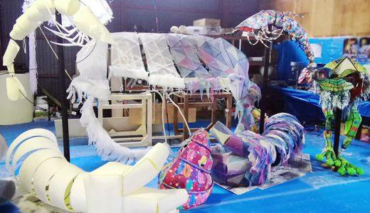 「巨大人形劇さんしょううお」が中部国際空港にお目見え!